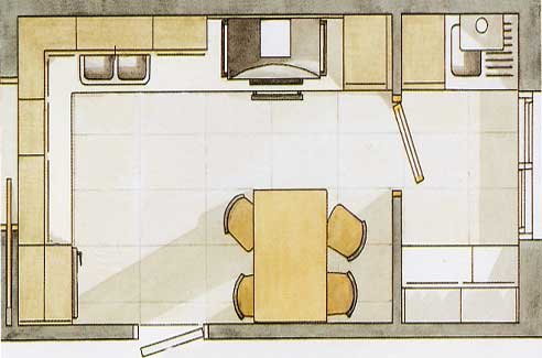 Empresa de cocinas for Planos de cocina lavadero
