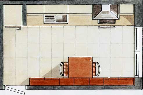 Empresa de cocinas for Distribucion cocina en paralelo